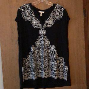 EUC XL Soma black sleeveless tunic shirt